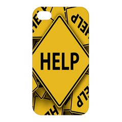 Caution Road Sign Help Cross Yellow Apple Iphone 4/4s Hardshell Case by Alisyart