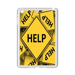 Caution Road Sign Help Cross Yellow Ipad Mini 2 Enamel Coated Cases