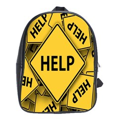 Caution Road Sign Help Cross Yellow School Bags (xl)