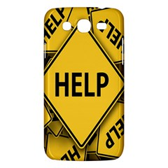 Caution Road Sign Help Cross Yellow Samsung Galaxy Mega 5 8 I9152 Hardshell Case  by Alisyart