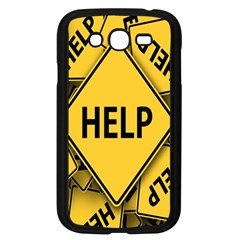 Caution Road Sign Help Cross Yellow Samsung Galaxy Grand Duos I9082 Case (black) by Alisyart