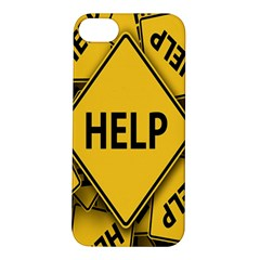 Caution Road Sign Help Cross Yellow Apple Iphone 5s/ Se Hardshell Case by Alisyart