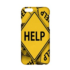 Caution Road Sign Help Cross Yellow Apple Iphone 6/6s Hardshell Case by Alisyart