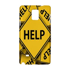 Caution Road Sign Help Cross Yellow Samsung Galaxy Note 4 Hardshell Case by Alisyart
