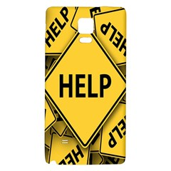 Caution Road Sign Help Cross Yellow Galaxy Note 4 Back Case by Alisyart