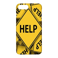 Caution Road Sign Help Cross Yellow Apple Iphone 7 Plus Hardshell Case by Alisyart