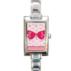 Butterfly Animals Pink Plaid Triangle Circle Flower Rectangle Italian Charm Watch by Alisyart