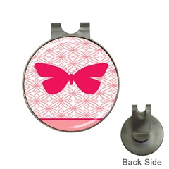 Butterfly Animals Pink Plaid Triangle Circle Flower Hat Clips With Golf Markers by Alisyart