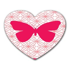 Butterfly Animals Pink Plaid Triangle Circle Flower Heart Mousepads by Alisyart