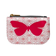 Butterfly Animals Pink Plaid Triangle Circle Flower Mini Coin Purses