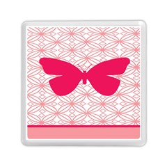 Butterfly Animals Pink Plaid Triangle Circle Flower Memory Card Reader (square)  by Alisyart