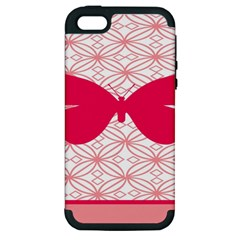 Butterfly Animals Pink Plaid Triangle Circle Flower Apple Iphone 5 Hardshell Case (pc+silicone) by Alisyart