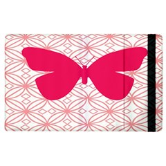 Butterfly Animals Pink Plaid Triangle Circle Flower Apple Ipad 2 Flip Case by Alisyart