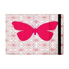 Butterfly Animals Pink Plaid Triangle Circle Flower Apple Ipad Mini Flip Case by Alisyart