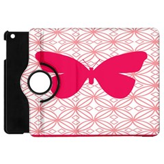 Butterfly Animals Pink Plaid Triangle Circle Flower Apple Ipad Mini Flip 360 Case by Alisyart