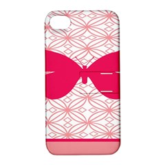 Butterfly Animals Pink Plaid Triangle Circle Flower Apple Iphone 4/4s Hardshell Case With Stand by Alisyart