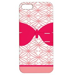 Butterfly Animals Pink Plaid Triangle Circle Flower Apple Iphone 5 Hardshell Case With Stand