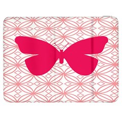 Butterfly Animals Pink Plaid Triangle Circle Flower Samsung Galaxy Tab 7  P1000 Flip Case