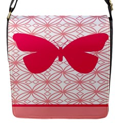 Butterfly Animals Pink Plaid Triangle Circle Flower Flap Messenger Bag (s) by Alisyart