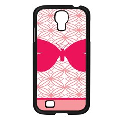 Butterfly Animals Pink Plaid Triangle Circle Flower Samsung Galaxy S4 I9500/ I9505 Case (black)