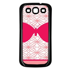 Butterfly Animals Pink Plaid Triangle Circle Flower Samsung Galaxy S3 Back Case (black) by Alisyart