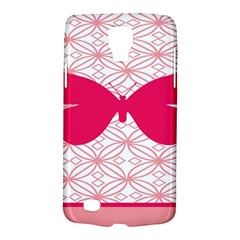 Butterfly Animals Pink Plaid Triangle Circle Flower Galaxy S4 Active by Alisyart