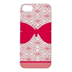 Butterfly Animals Pink Plaid Triangle Circle Flower Apple Iphone 5s/ Se Hardshell Case by Alisyart
