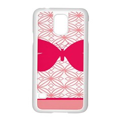 Butterfly Animals Pink Plaid Triangle Circle Flower Samsung Galaxy S5 Case (white)