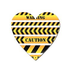 Caution Road Sign Warning Cross Danger Yellow Chevron Line Black Heart Magnet by Alisyart