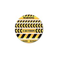 Caution Road Sign Warning Cross Danger Yellow Chevron Line Black Golf Ball Marker by Alisyart