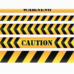 Caution Road Sign Warning Cross Danger Yellow Chevron Line Black Canvas 18  X 24   by Alisyart
