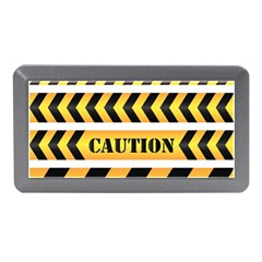 Caution Road Sign Warning Cross Danger Yellow Chevron Line Black Memory Card Reader (mini) by Alisyart