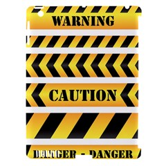 Caution Road Sign Warning Cross Danger Yellow Chevron Line Black Apple Ipad 3/4 Hardshell Case (compatible With Smart Cover) by Alisyart
