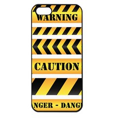 Caution Road Sign Warning Cross Danger Yellow Chevron Line Black Apple Iphone 5 Seamless Case (black) by Alisyart