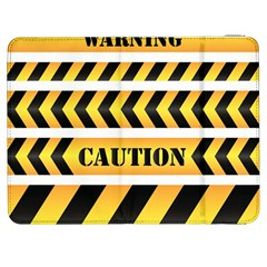 Caution Road Sign Warning Cross Danger Yellow Chevron Line Black Samsung Galaxy Tab 7  P1000 Flip Case