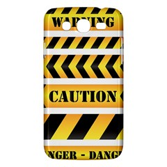 Caution Road Sign Warning Cross Danger Yellow Chevron Line Black Samsung Galaxy Mega 5 8 I9152 Hardshell Case  by Alisyart