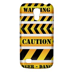 Caution Road Sign Warning Cross Danger Yellow Chevron Line Black Galaxy S4 Mini by Alisyart