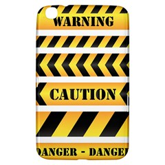 Caution Road Sign Warning Cross Danger Yellow Chevron Line Black Samsung Galaxy Tab 3 (8 ) T3100 Hardshell Case  by Alisyart
