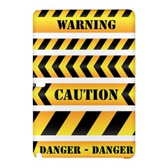 Caution Road Sign Warning Cross Danger Yellow Chevron Line Black Samsung Galaxy Tab Pro 10 1 Hardshell Case by Alisyart
