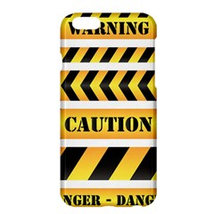 Caution Road Sign Warning Cross Danger Yellow Chevron Line Black Apple Iphone 6 Plus/6s Plus Hardshell Case