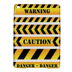 Caution Road Sign Warning Cross Danger Yellow Chevron Line Black Ipad Air 2 Hardshell Cases by Alisyart