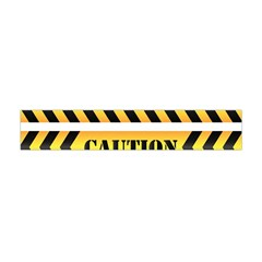 Caution Road Sign Warning Cross Danger Yellow Chevron Line Black Flano Scarf (mini) by Alisyart