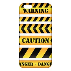 Caution Road Sign Warning Cross Danger Yellow Chevron Line Black Iphone 6 Plus/6s Plus Tpu Case by Alisyart