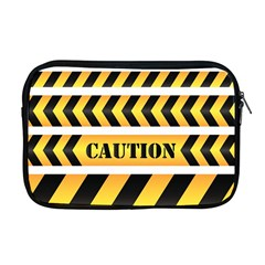 Caution Road Sign Warning Cross Danger Yellow Chevron Line Black Apple Macbook Pro 17  Zipper Case by Alisyart