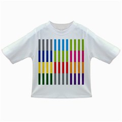 Color Bars Rainbow Green Blue Grey Red Pink Orange Yellow White Line Vertical Infant/toddler T Shirts
