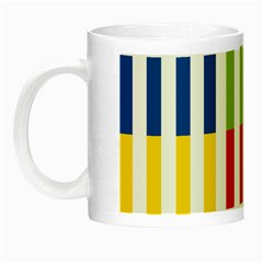 Color Bars Rainbow Green Blue Grey Red Pink Orange Yellow White Line Vertical Night Luminous Mugs by Alisyart