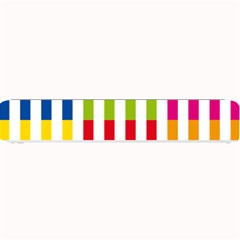Color Bars Rainbow Green Blue Grey Red Pink Orange Yellow White Line Vertical Small Bar Mats by Alisyart