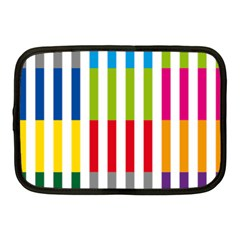 Color Bars Rainbow Green Blue Grey Red Pink Orange Yellow White Line Vertical Netbook Case (medium)  by Alisyart