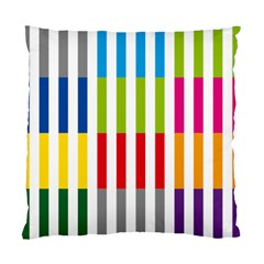 Color Bars Rainbow Green Blue Grey Red Pink Orange Yellow White Line Vertical Standard Cushion Case (two Sides)