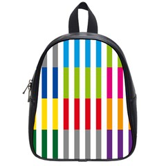 Color Bars Rainbow Green Blue Grey Red Pink Orange Yellow White Line Vertical School Bags (small)  by Alisyart